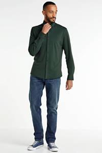 SELECTED HOMME slim fit overhemd met biologisch katoen donkergroen, Donkergroen