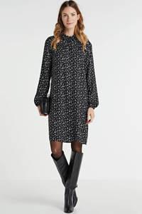 anytime blousejurk met all-over print zwart/wit, Zwart/wit