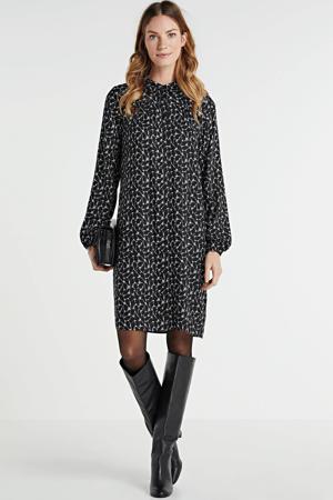 blousejurk met all-over print zwart/wit