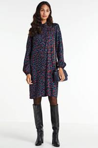 anytime blousejurk met panterprint print zwart/rood, Zwart/rood