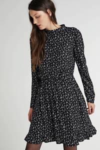 anytime jurk met all over print zwart wit, Zwart/wit