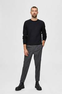 SELECTED HOMME trui van biologisch katoen zwart, Zwart