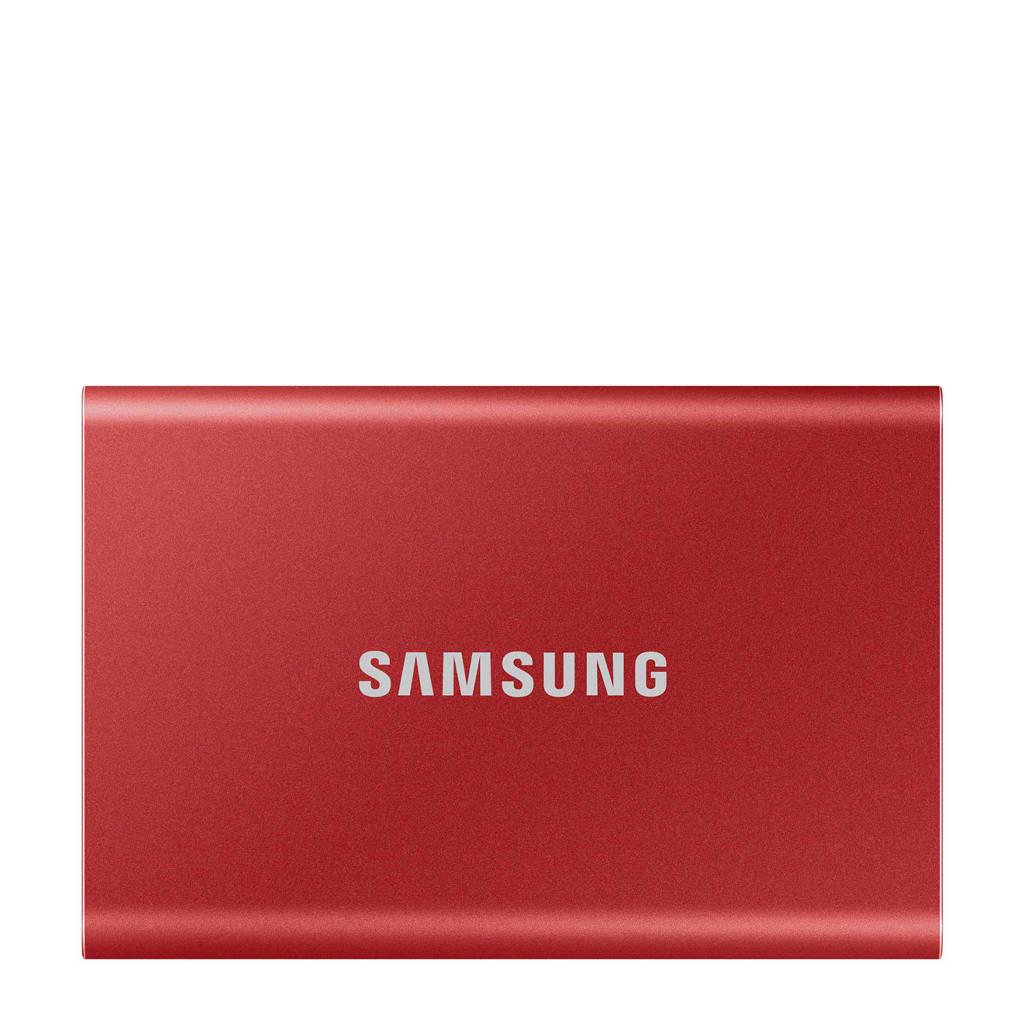 Samsung T7 externe SSD 500 GB (rood), Rood