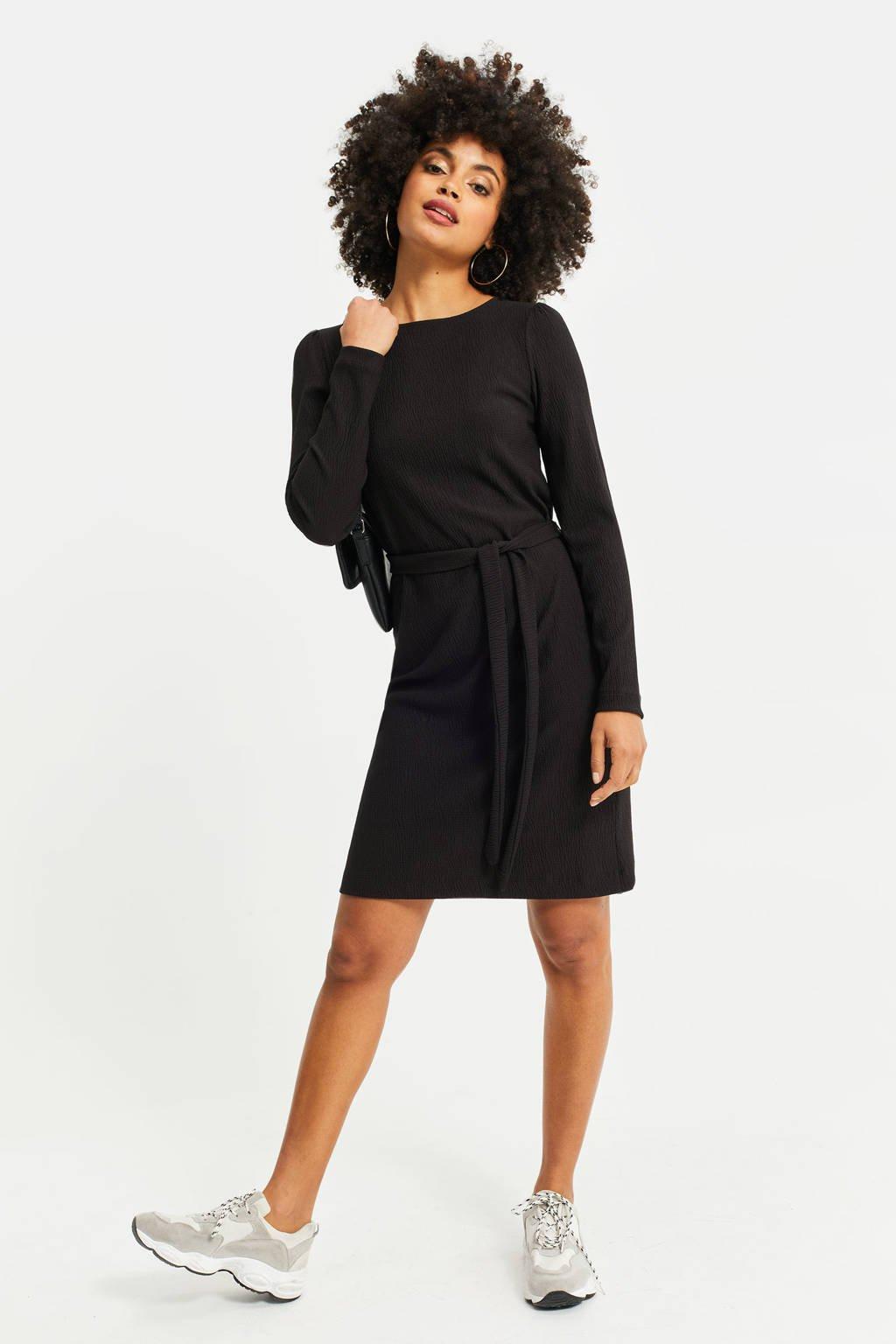 WE Fashion jurk black uni, Black Uni