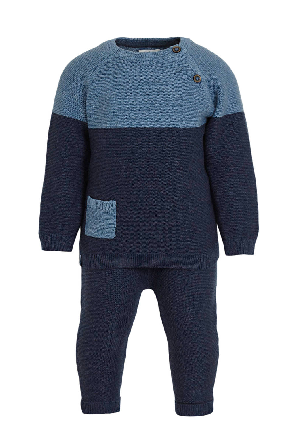 C&A Baby Club trui + broek donkerblauw, Donkerblauw/blauw