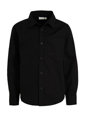 overhemd Raul met biologisch katoen zwart