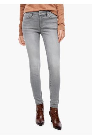 coated skinny jeans lichtgrijs