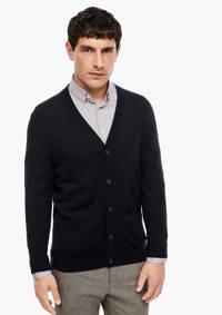 s.Oliver BLACK LABEL vest met wol donkerblauw, Donkerblauw