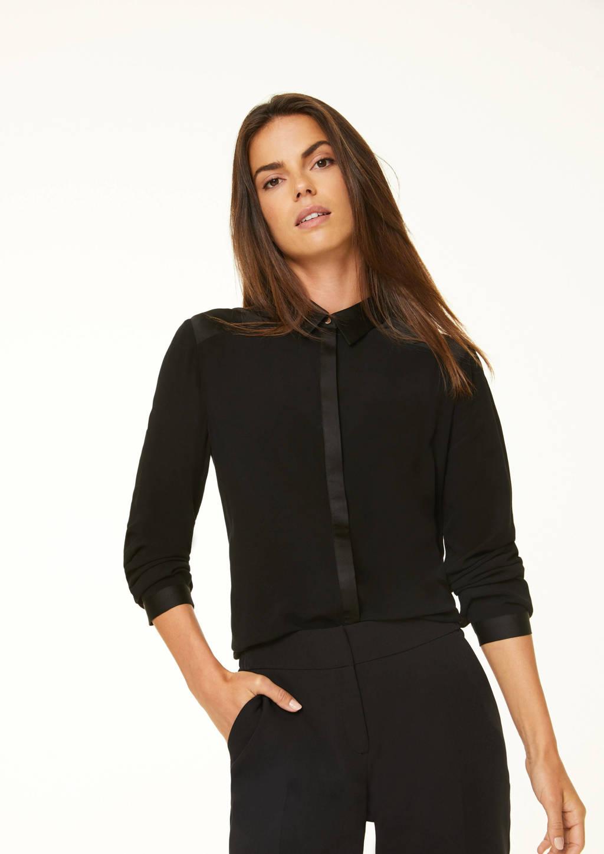 comma blouse zwart, Zwart