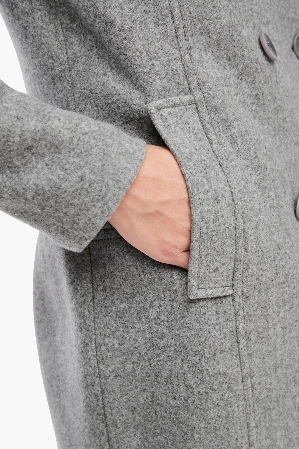s.Oliver coat met wol grijs, Grijs