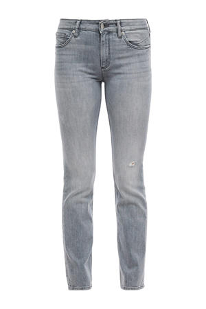 straight fit jeans lichtgrijs stonewashed