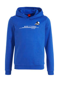 s.Oliver hoodie met paisleyprint blauw, Blauw
