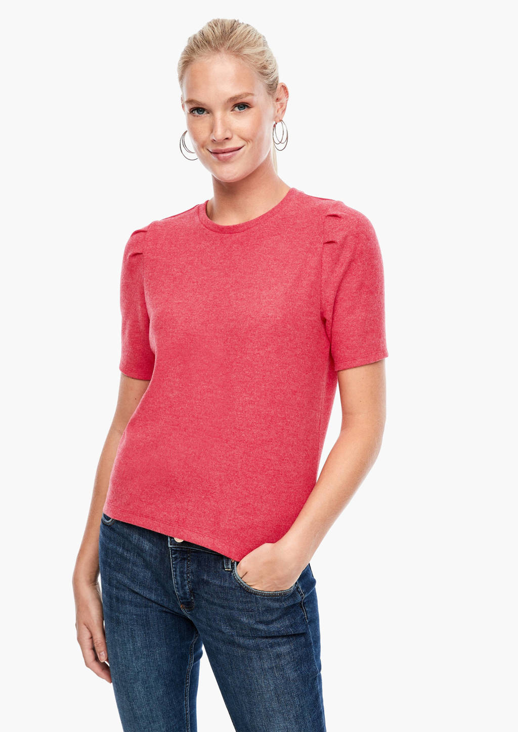 Q/S designed by gemêleerd T-shirt rood, Rood