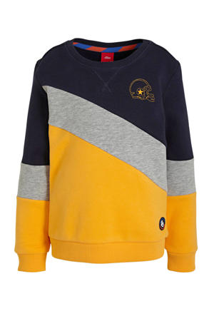 sweater met patches geel