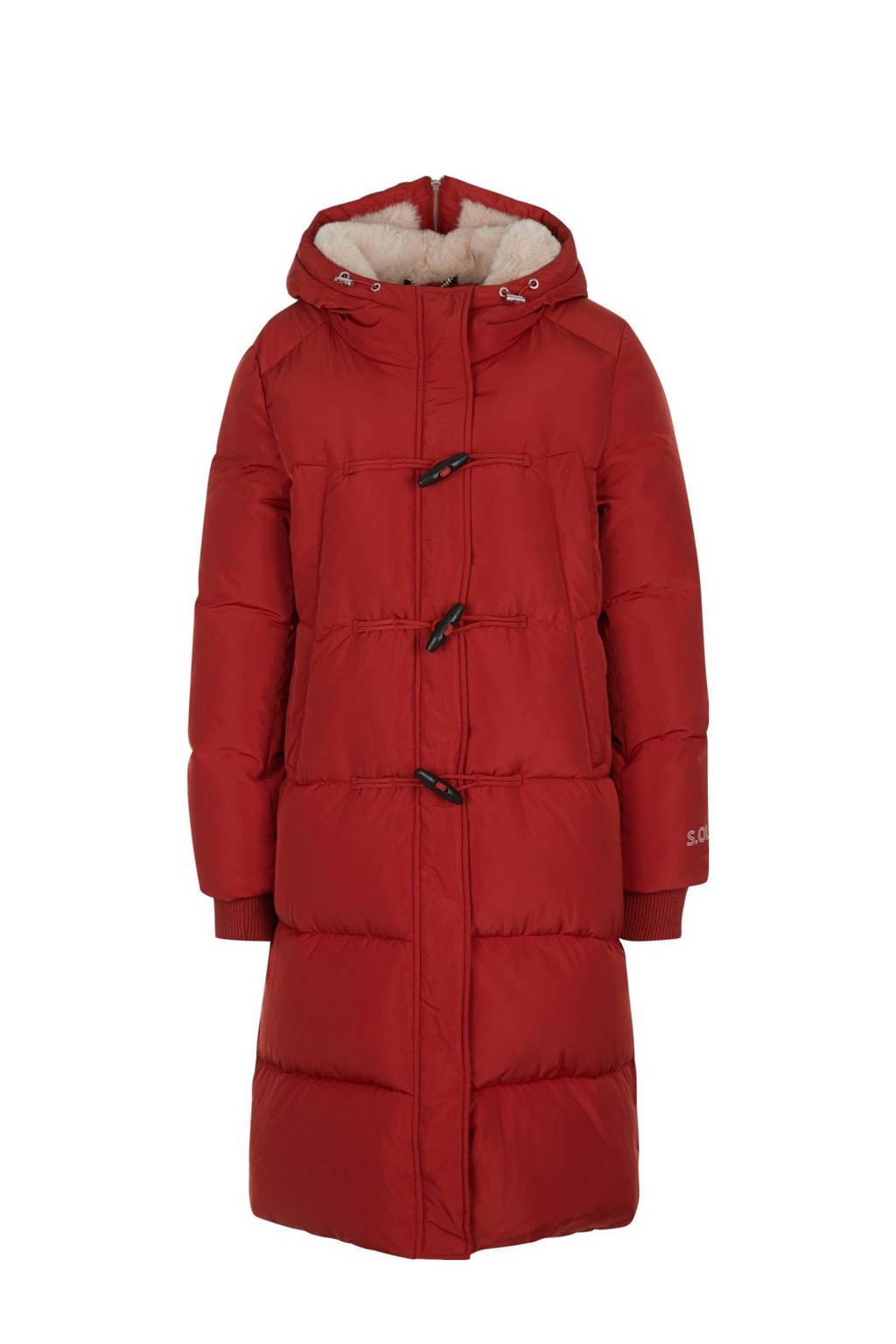 s.Oliver gewatteerde jas rood met teddy voering, Rood