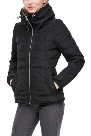 gewatteerde jas zwart met voering