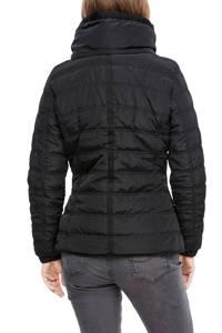 Q/S designed by gewatteerde jas zwart/bruin, Zwart/bruin