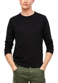 s.Oliver longsleeve zwart, Zwart
