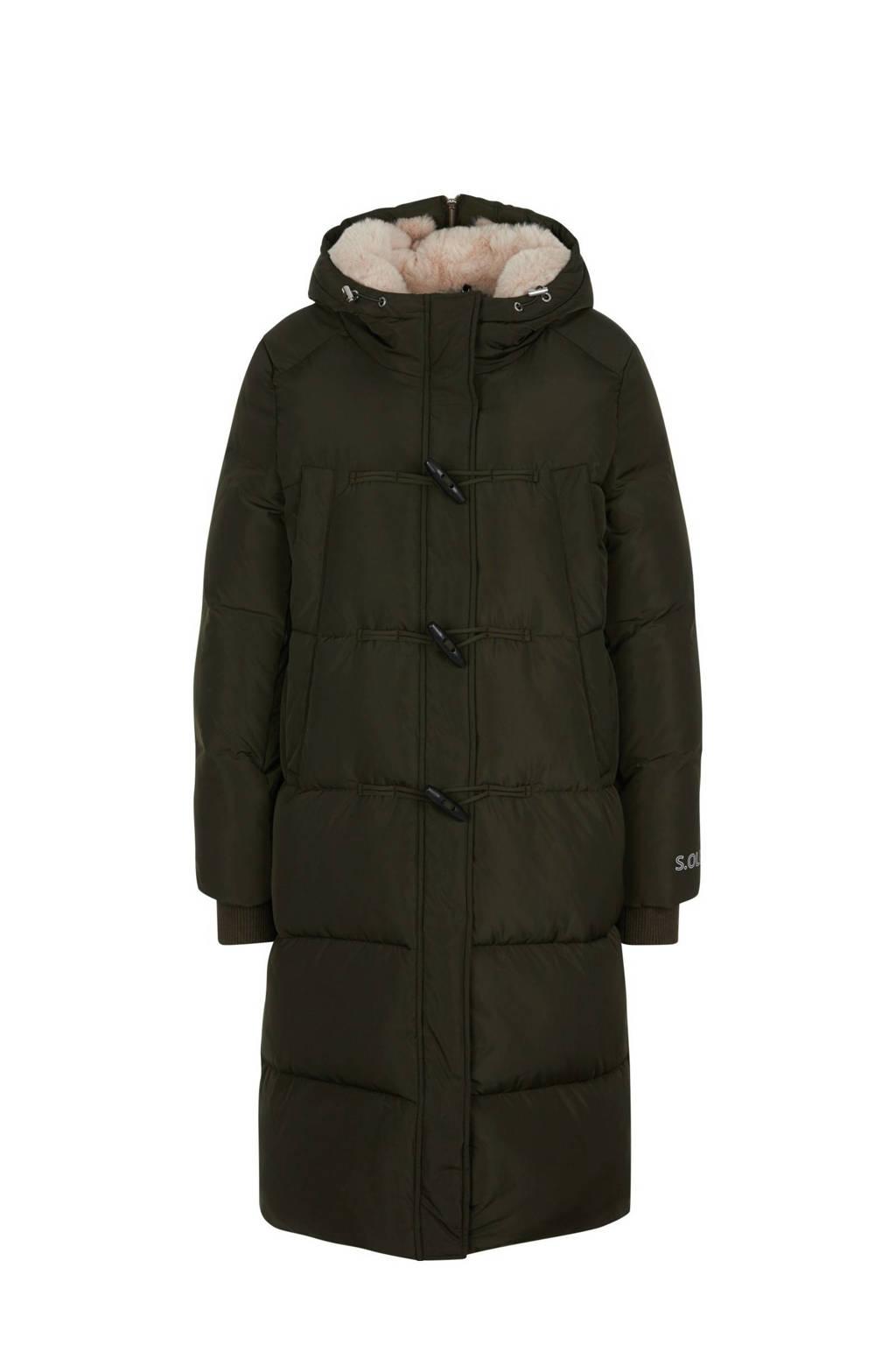 s.Oliver gewatteerde jas donkergroen met teddy voering, Donkergroen