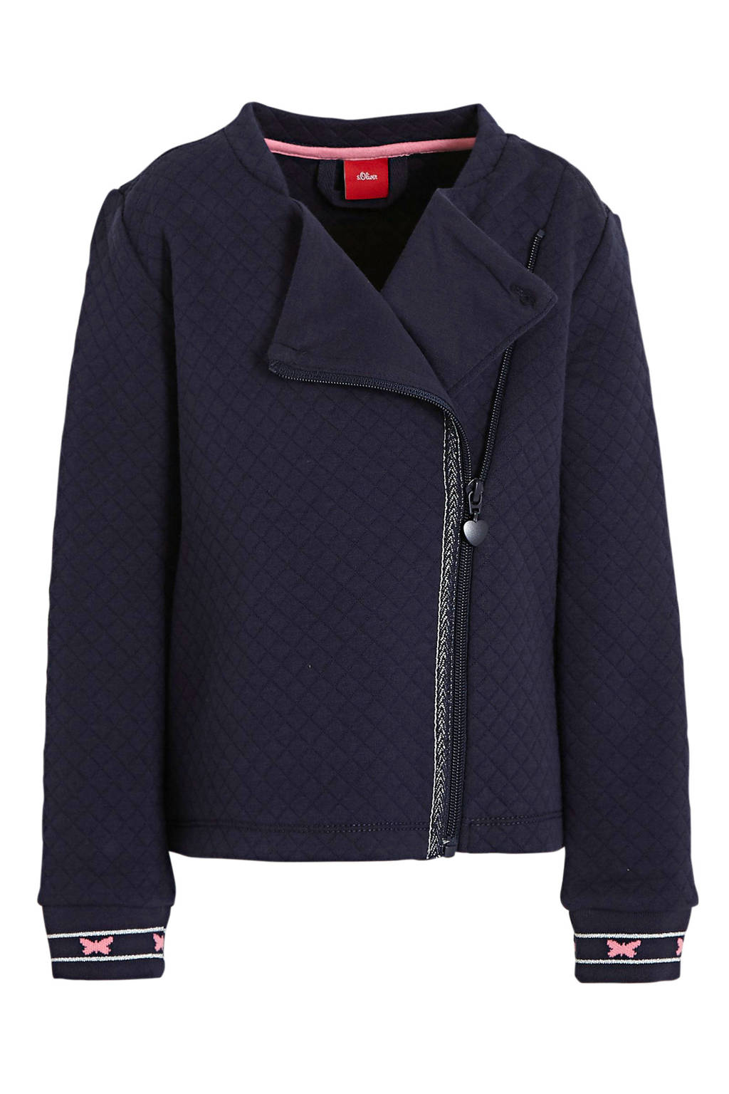 s.Oliver jasje met glitters donkerblauw, Donkerblauw