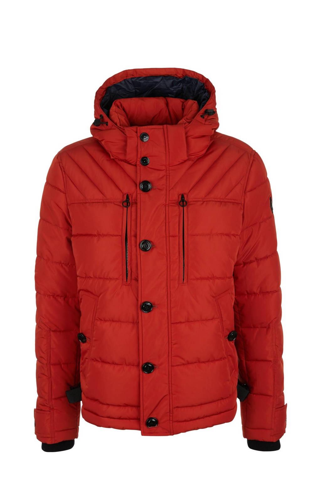 s.Oliver gewatteerde jas rood/zwart, Rood/zwart