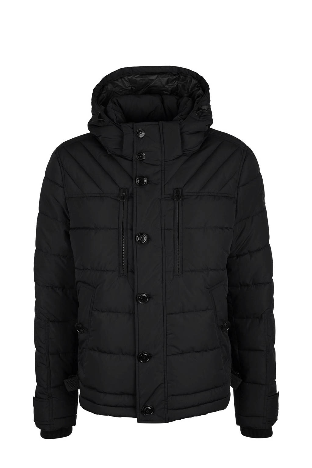 s.Oliver gewatteerde jas zwart, Zwart