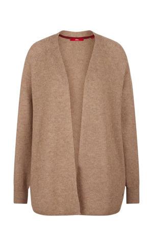 gemêleerd vest met wol bruin