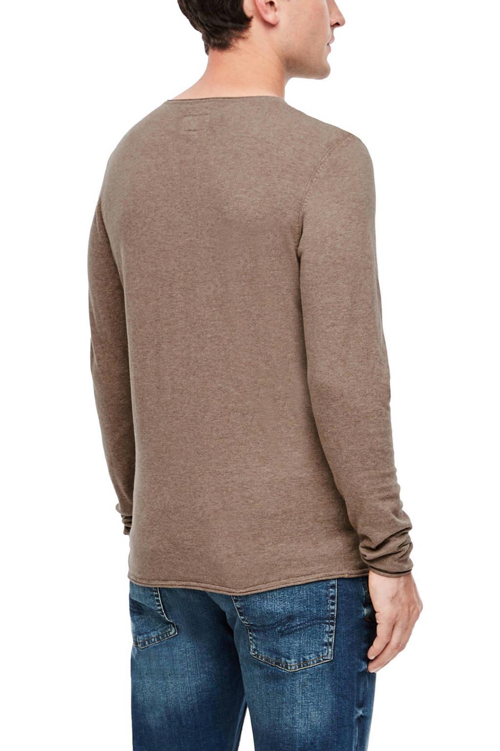 Q/S designed by gemêleerde trui beige, Beige