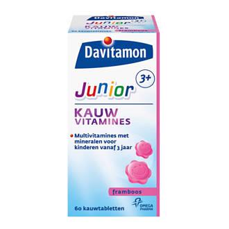Junior 3+ framboos 60 kauwtabletten