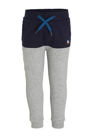joggingbroek grijs melange/donkerblauw