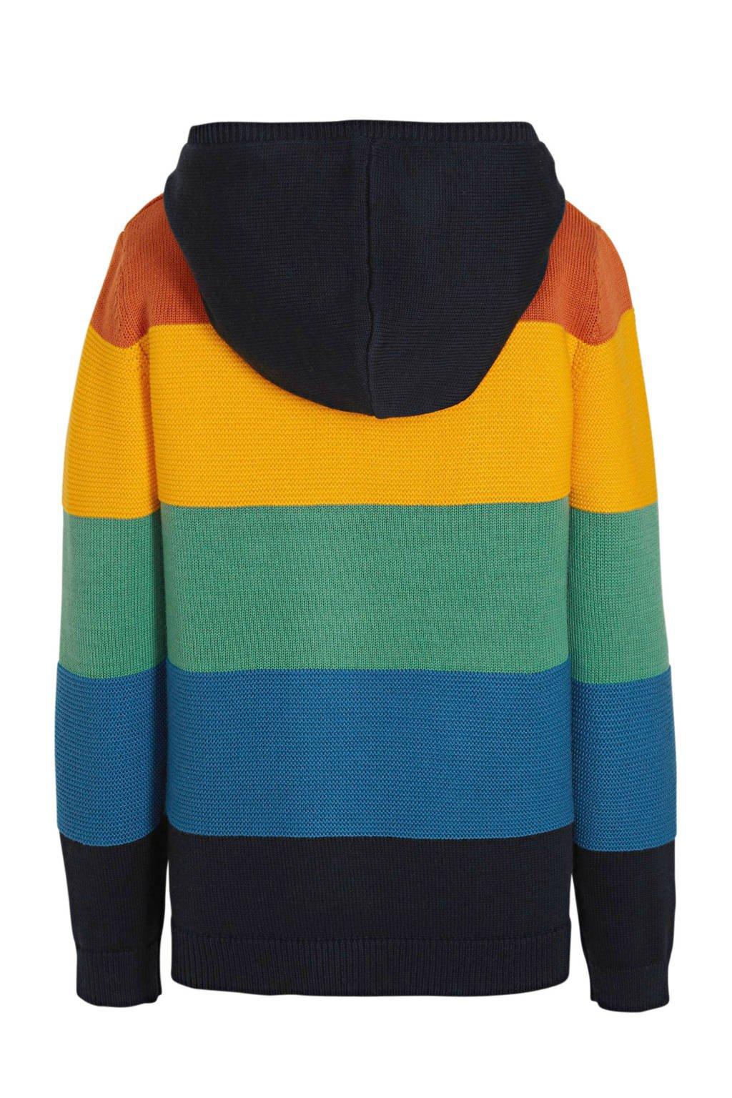 s.Oliver gestreepte trui marine/multicolor, Marine/multicolor