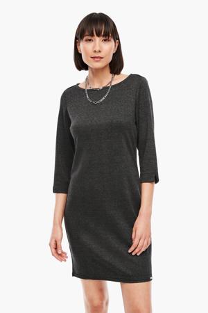 geruite jurk donkergrijs/zwart