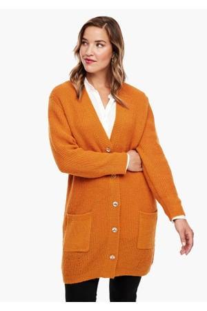 gebreid vest met wol oranje