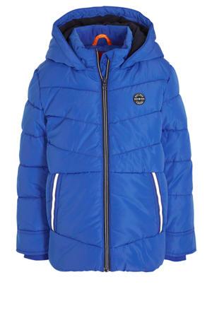 gewatteerde winterjas hardblauw