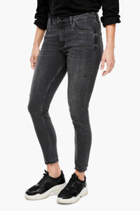 Q/S designed by high waist skinny jeans staal, Staal