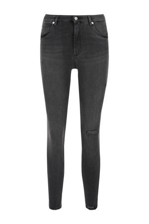 high waist skinny jeans staal