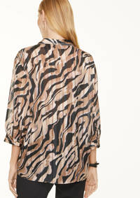 comma top met all over print zwart/beige, Zwart/beige