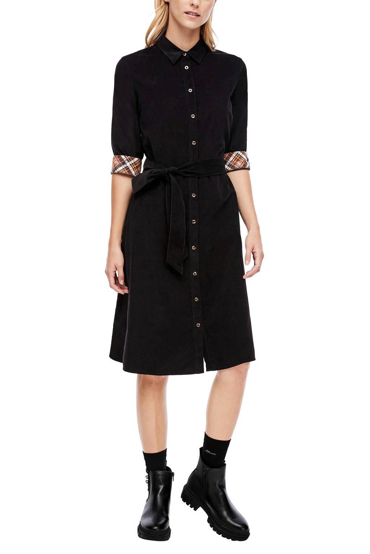 s.Oliver blousejurk met ceintuur zwart, Zwart