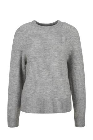 gebreide trui grijs