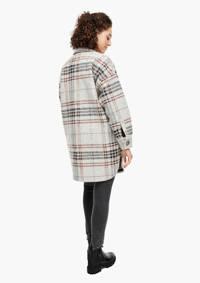 Q/S designed by geruite coat met wol grijs/donkerbruin, Grijs/Donkerbruin