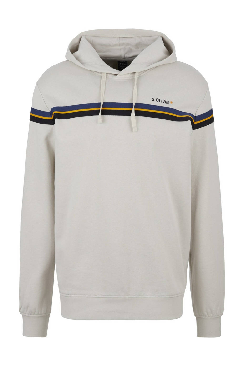 s.Oliver hoodie met printopdruk lichtgrijs, Lichtgrijs