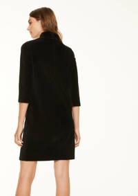 comma casual identity corduroy jurk zwart, Zwart