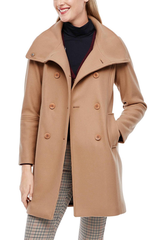 s.Oliver coat met wol bruin, Bruin