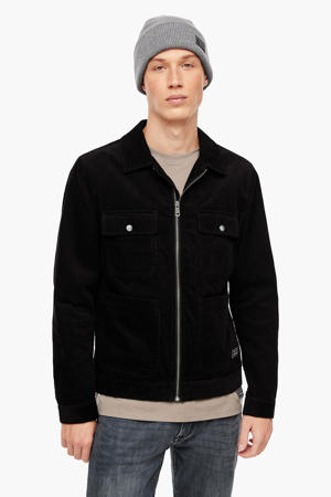 corduroy jas zwart