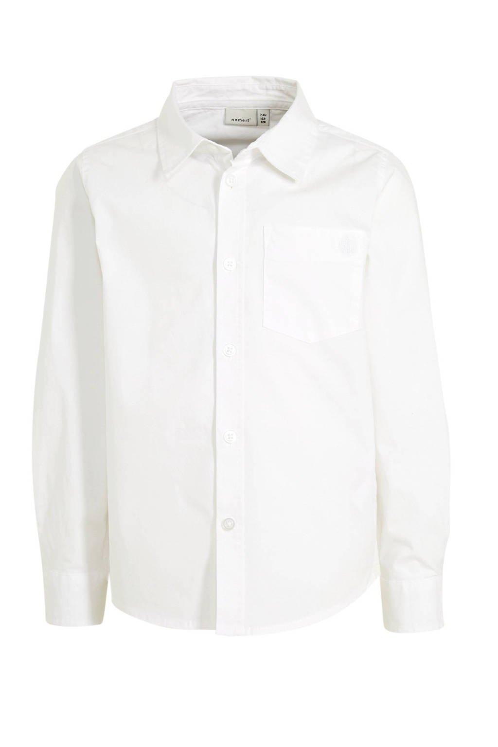 NAME IT KIDS overhemd Raul met biologisch katoen wit, Wit