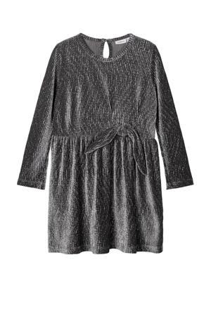 jurk Robisa met glitters grijs/zilver