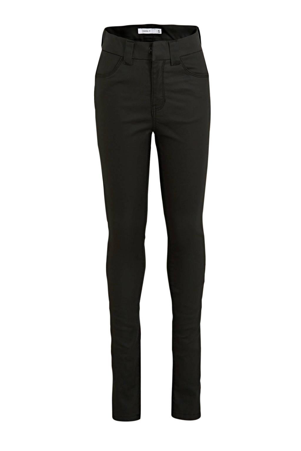 NAME IT KIDS skinny fit broek Polly zwart, Zwart