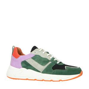 suède sneakers groen/multi