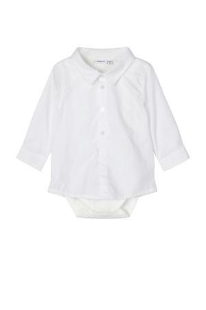 overhemd Sander met romper wit