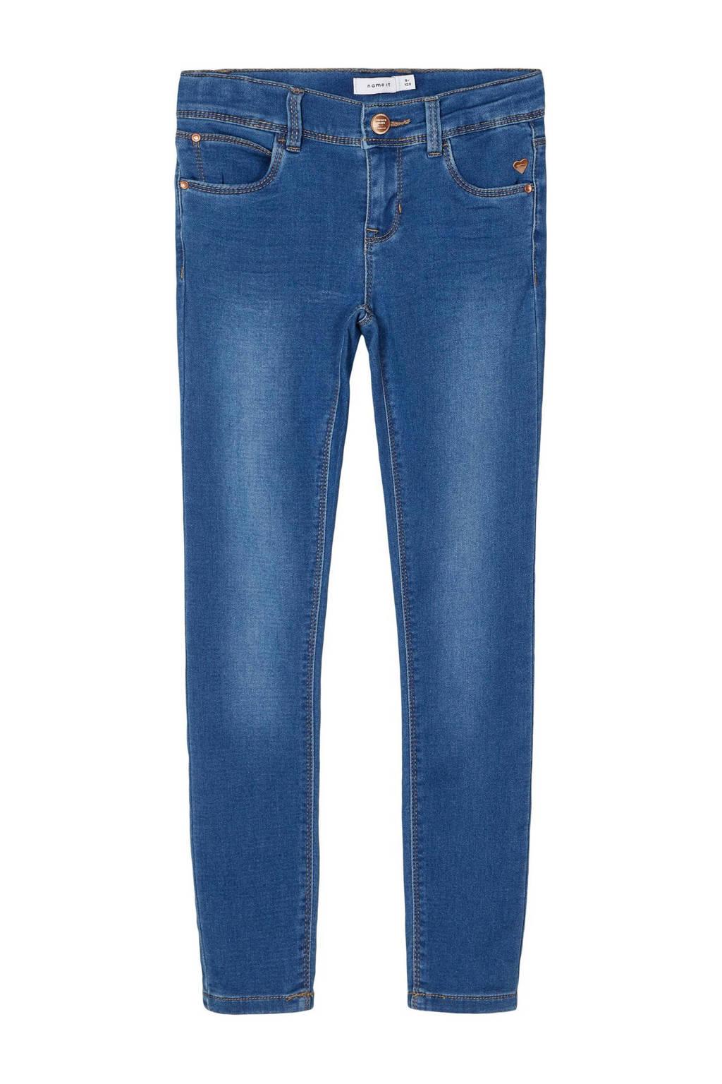 NAME IT KIDS skinny jeans NKFPOLLY middenblauw